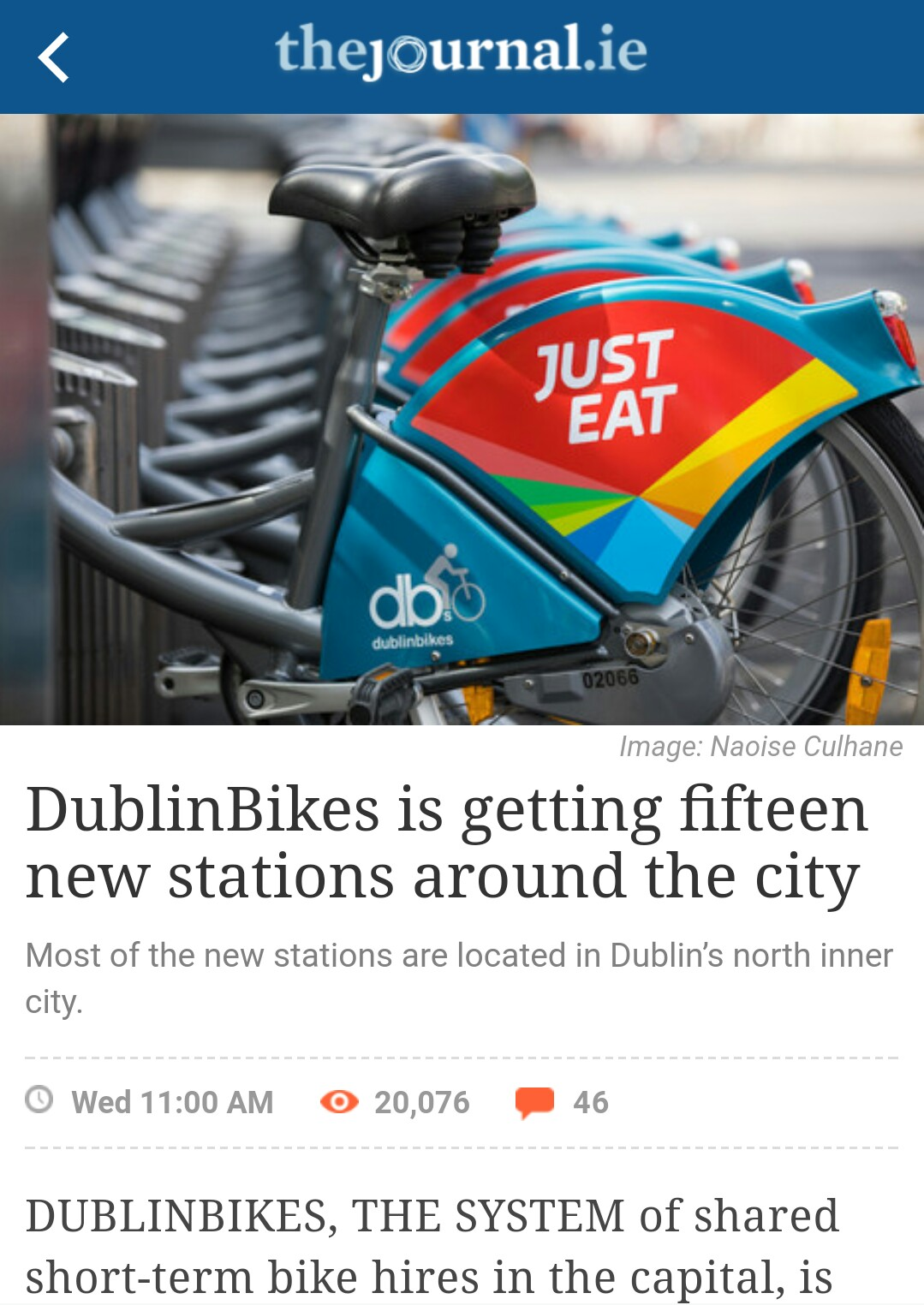 Good News on Dublin Bikes Northside