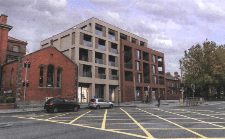 Computer image of new building