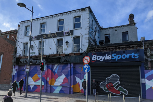 Planning application for Quinn's Pub site